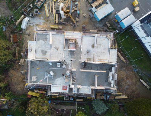 20.02.2021 Aktueller Baustand: Luftbildaufnahme