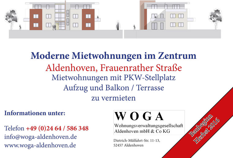 WOGA-Aldenhoven: Projekt Frauenrather Strasse