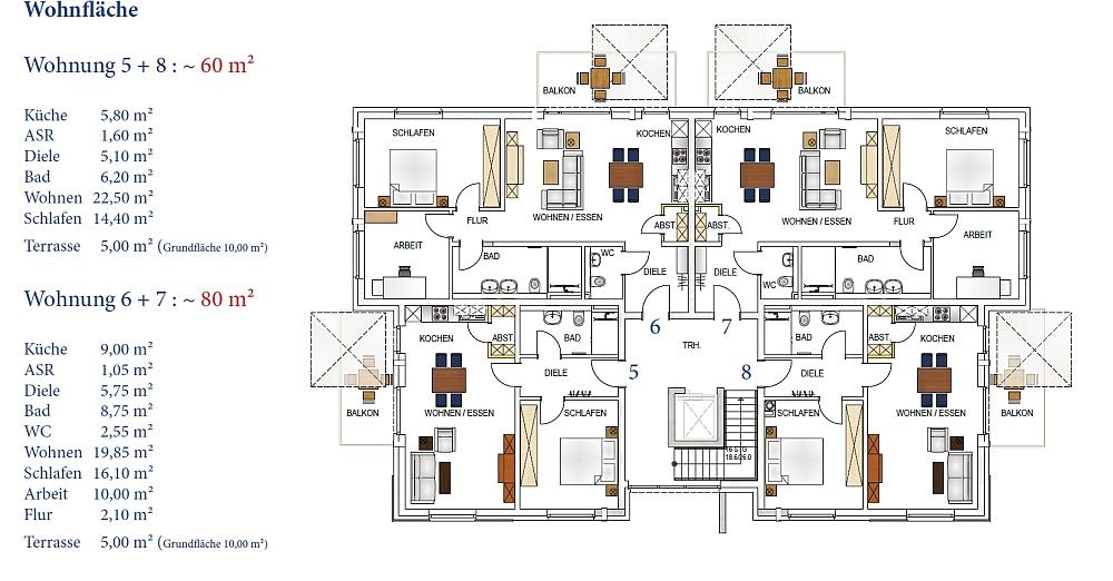WOGA Aldenhoven · Projekt Frauenrather Straße · Grundriss Obergeschoss