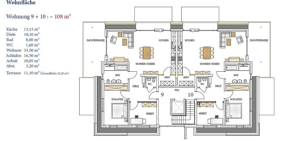 WOGA Aldenhoven · Projekt Frauenrather Straße · Grundriss Penthouse