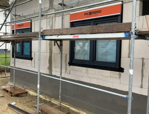 14.05.2021 Einbau der Fenster schreitet voran.